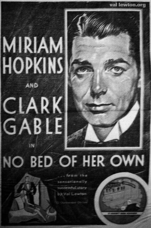Clark Gable and Miriam Hopkins no bed of her own promo image