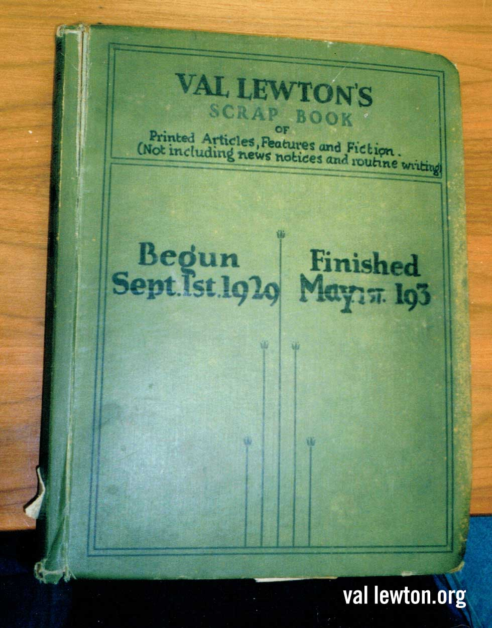 Val Lewton Scrap Book